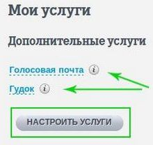 настройка услуг теле2