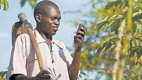 абориген с телефоном
