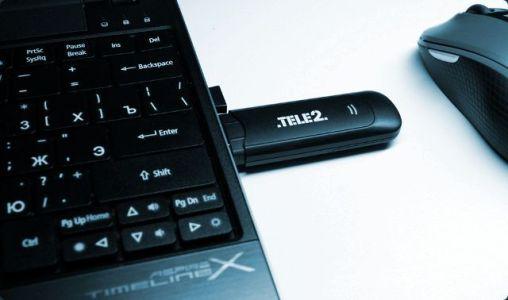 модем теле2 в ноутбуке