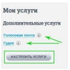 кнопка настроить услугу