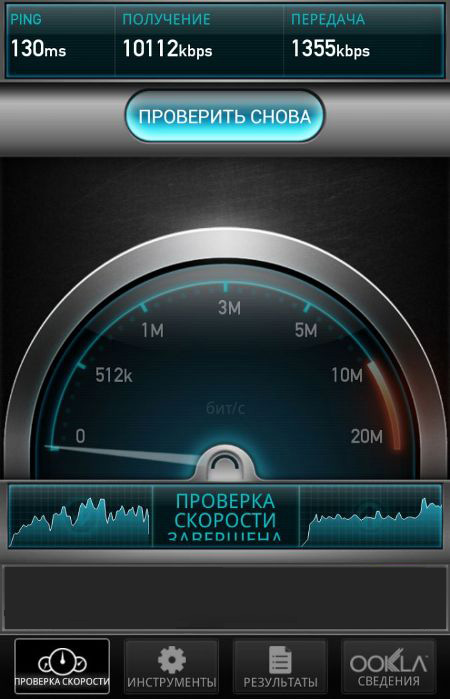 проверка скорости интернета теле2