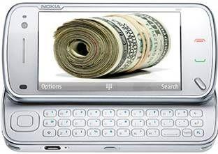 доллары в мониторе телефона