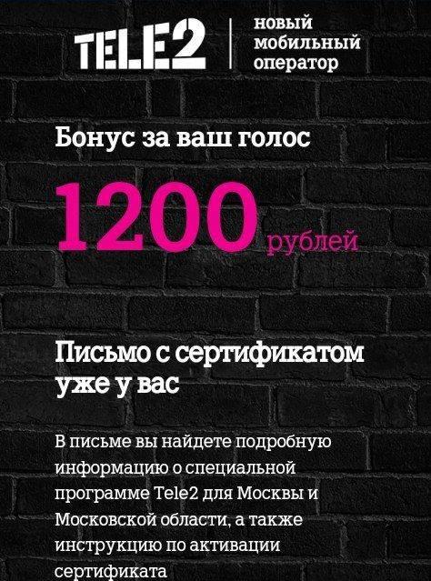 сертификат 1200 рублей