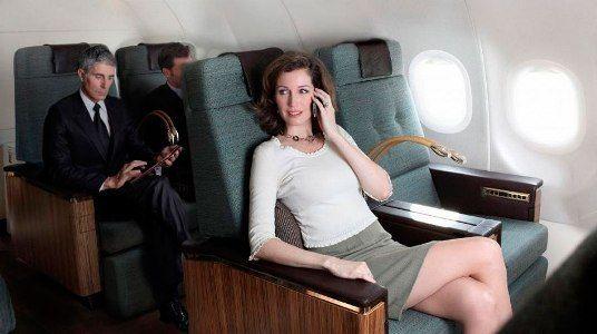 роуминг в самолете